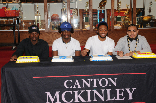 McKINLEY SCHOLAR ATHLETES SIGN LETTERS OF INTENT