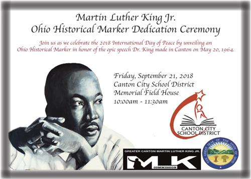 CCSD TO HOST MLK JR. HISTORICAL MARKER DEDICATION AS PART OF THE INTERNATIONAL DAY OF PEACE