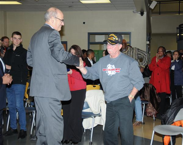DISTRICT AWARDS MCKINLEY DIPLOMA TO DECORATED VETERAN