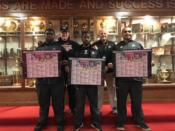 RETIRED AIR FORCE VETERAN DELIVERS MEMENTOS TO ALL COUNTY FOOTBALL PLAYERS